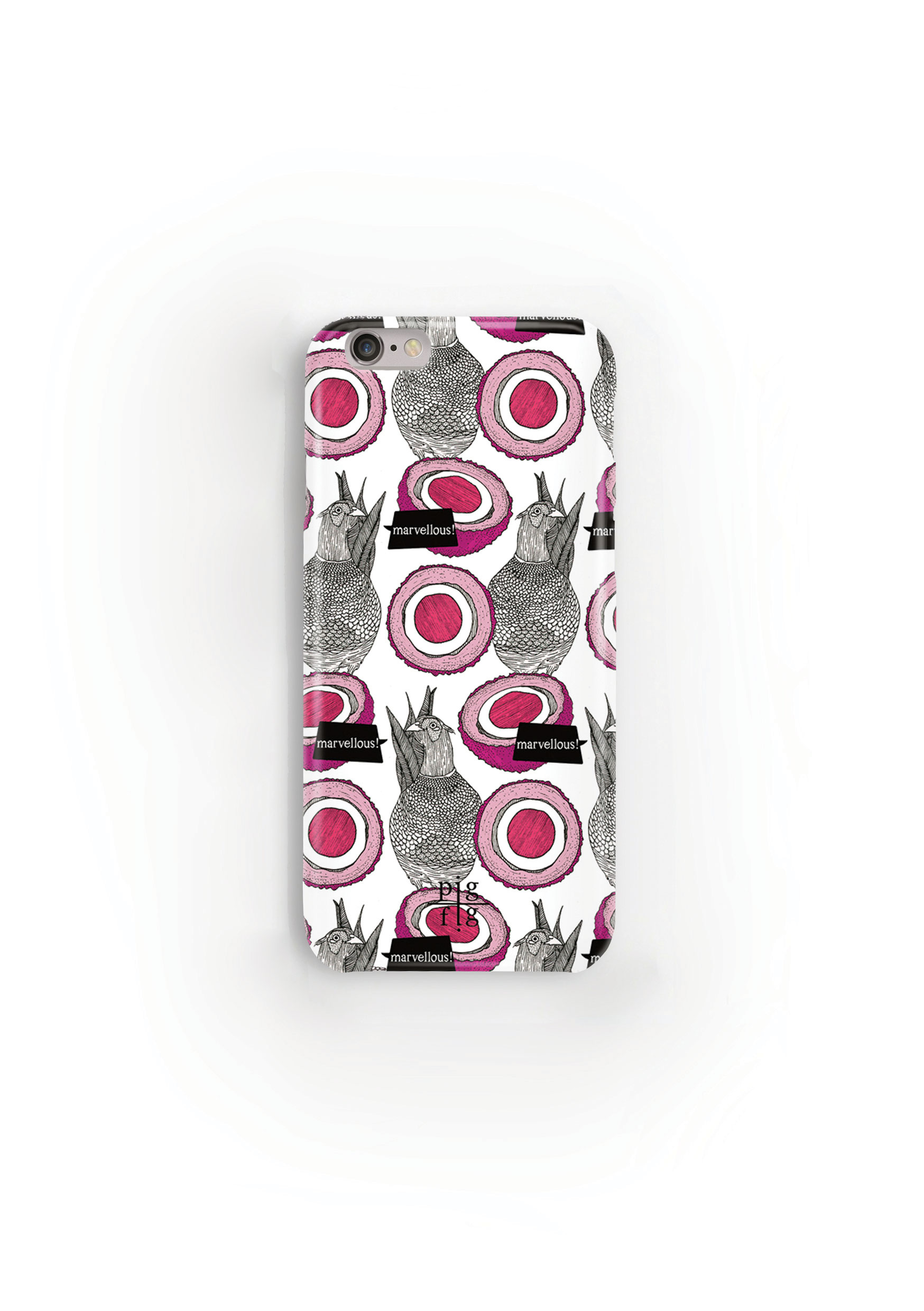 Pheasant & Pink Scotch Egg Phone Case