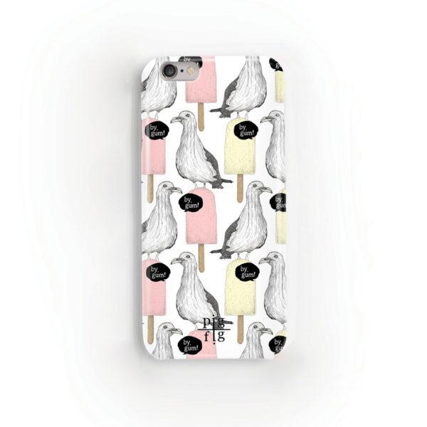 Seagull & Ice Lolly Rhubarb Custard Phone Case