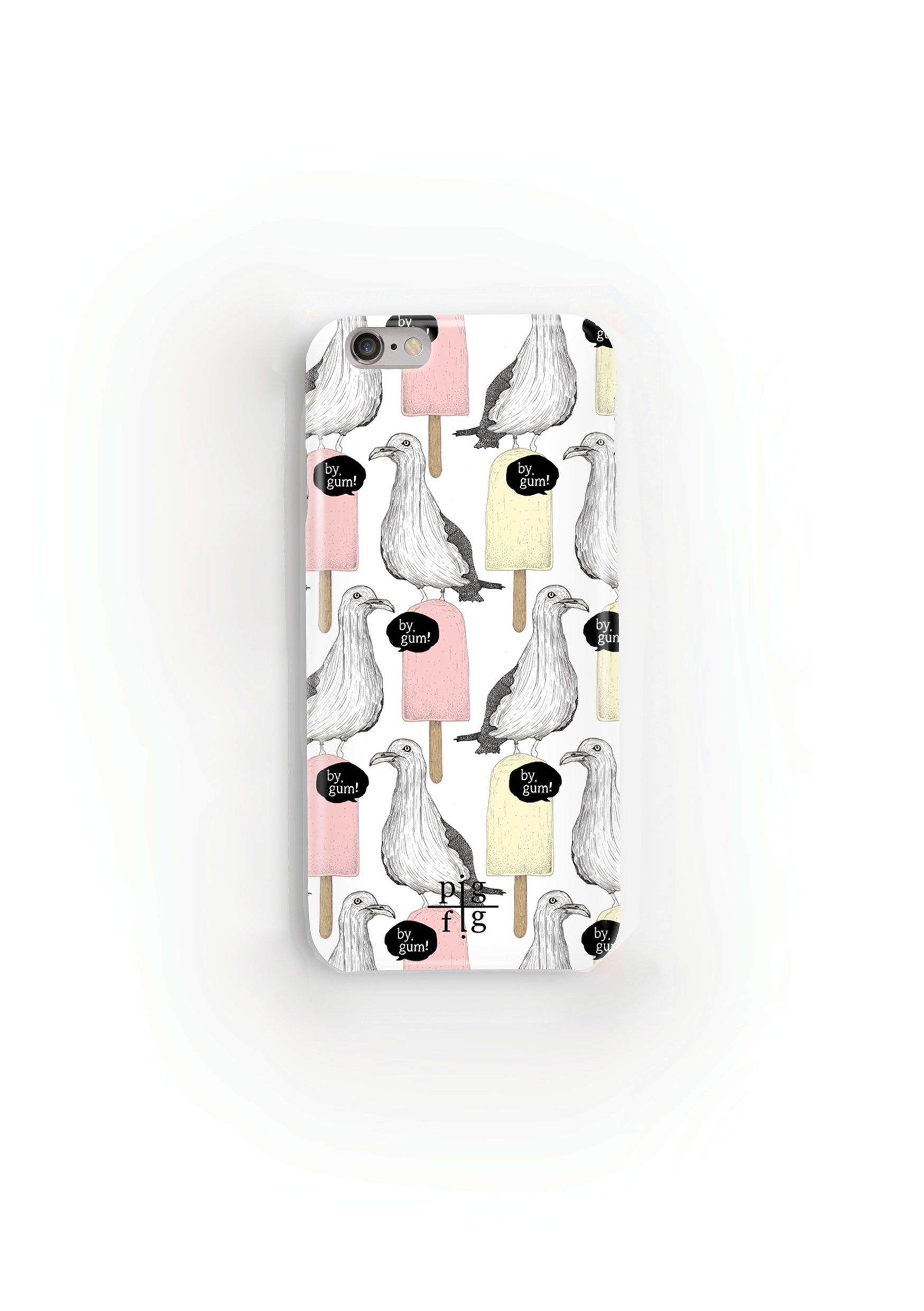 Seagull & Ice Lolly Rhubarb Custard Phone Case