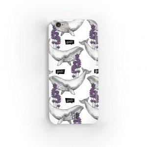 Whale & Lavender Phone Case