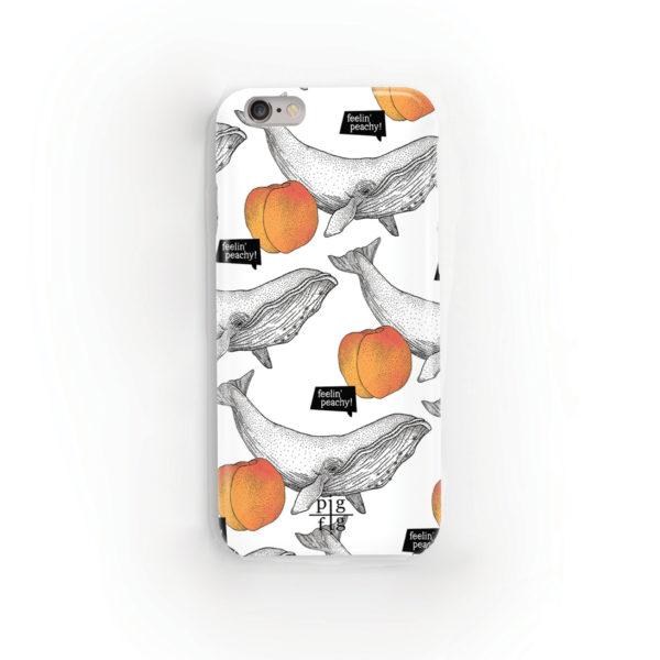 Whale & Peach Phone Case