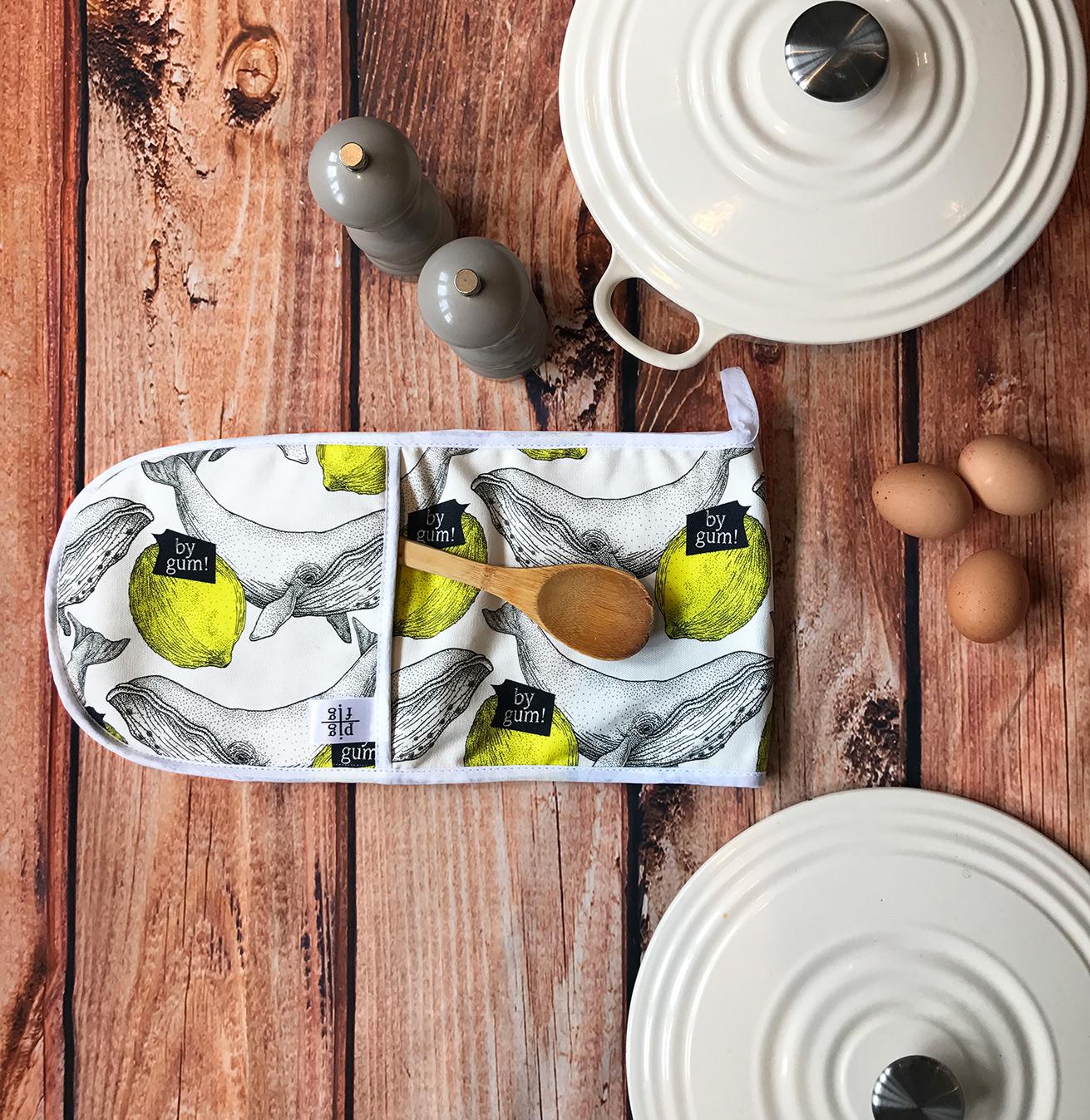Whale & Lemon Oven Glove